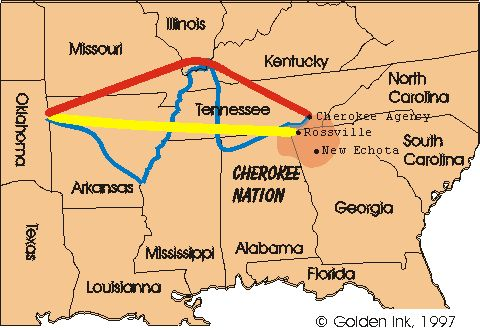 Trail Of Tears Map | Trail of Tears Map