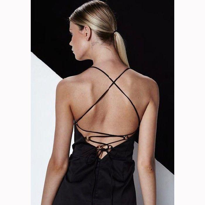 SHILLA Grand Back Detail Dress Black