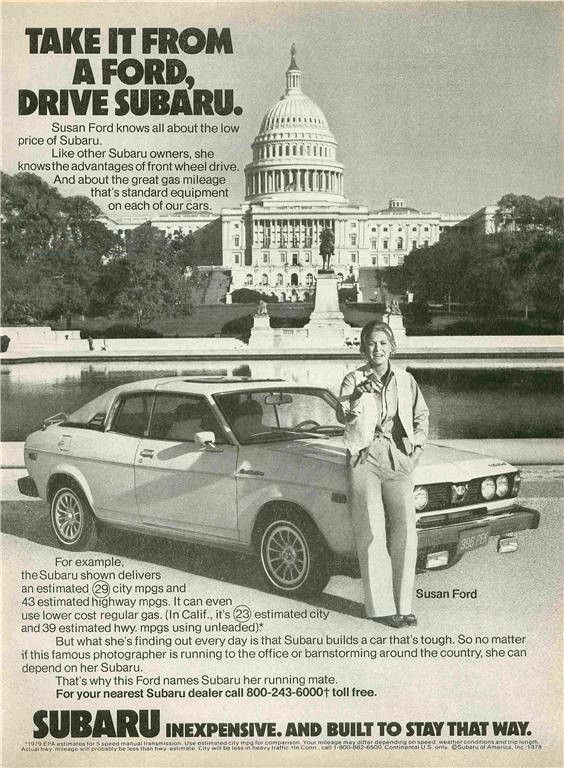 "1979 Subaru Car Ad ""Susan Ford"""