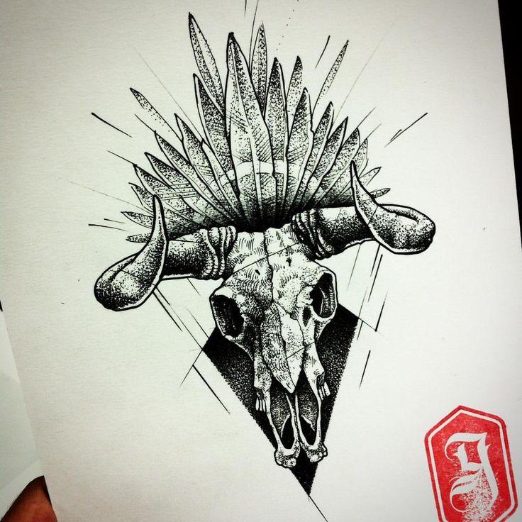 #goma90 #tattoosketch #blackwork #dotwork #bull #bullskull #darkartists #blakworkerssubmission