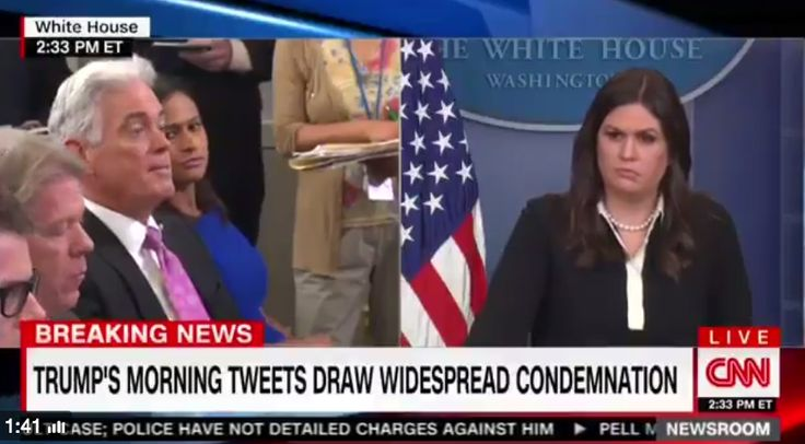 WTF IS WRONG WITH HER?? Sarah Huckabee Sanders Doesn't Think 'Smart' Trump's Tweet Went Too Far: 'He's Going to Hit Back'
