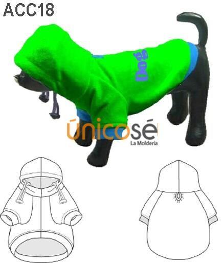 Molde para capa de perro