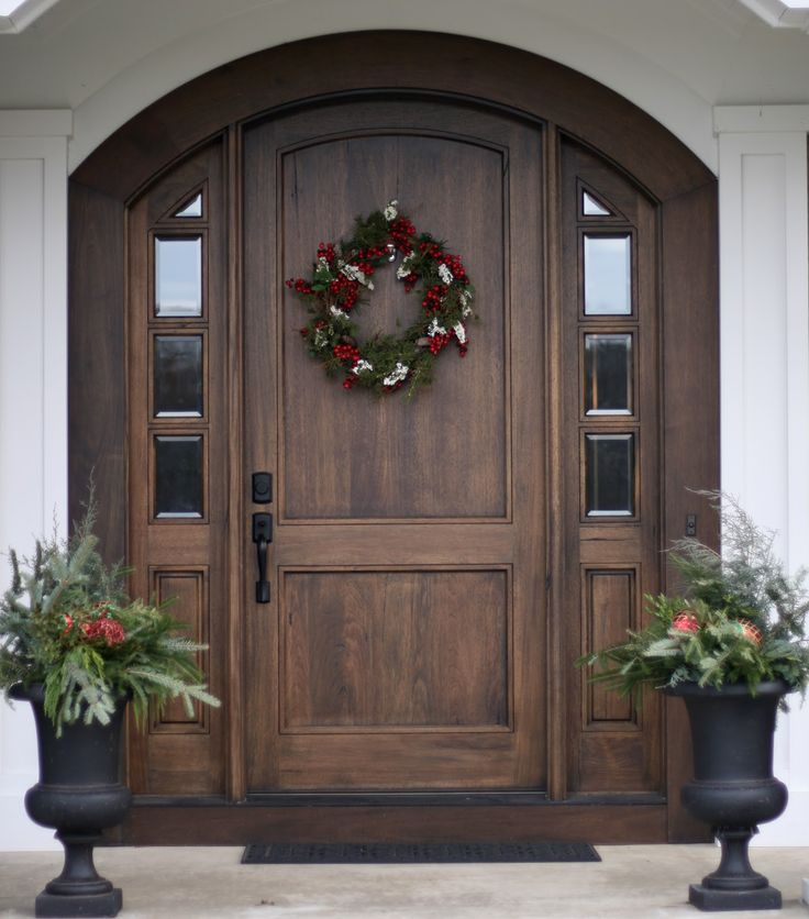 25 best ideas about wood front doors on pinterest front for Single exterior door