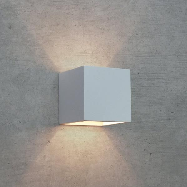 APPLIQUE IN GESSO LAMPADA A PARETE MODERNO ATTACCO G9 CUBO UP DOWN WALL LIGHT - FUTUR PRINT - APPLIQUE - ILLUMINAZIONE LED - Negozio Online - Futur Print snc luceled.com