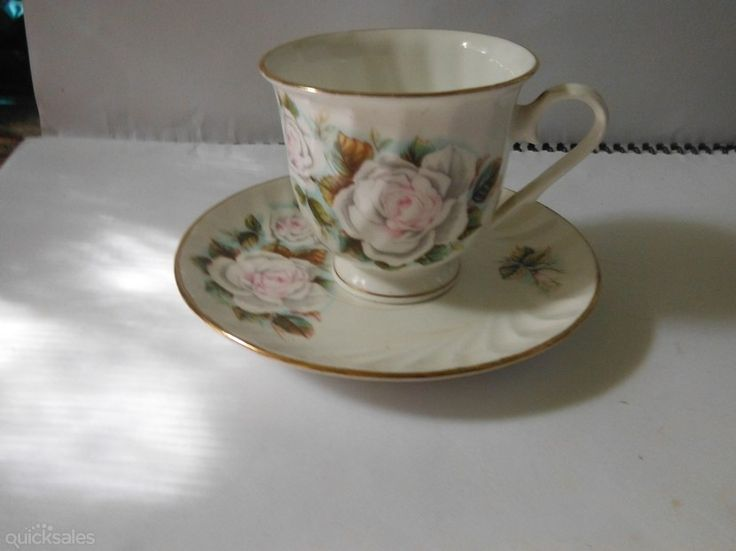 Japanese Floral Fine Bone China Cup and saucer good condition by jones101 - $12.00