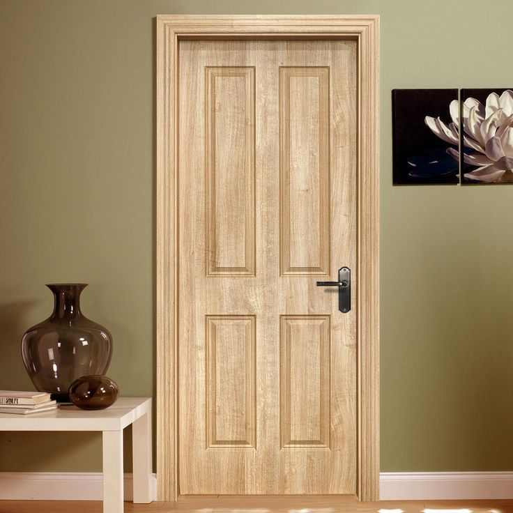 Regency 4 Panel Trojan Oak Composite Doorset with 135mm Broad Frame. #trojanoakdoor #internaloakdoor #internaleleganttraditionaldoor