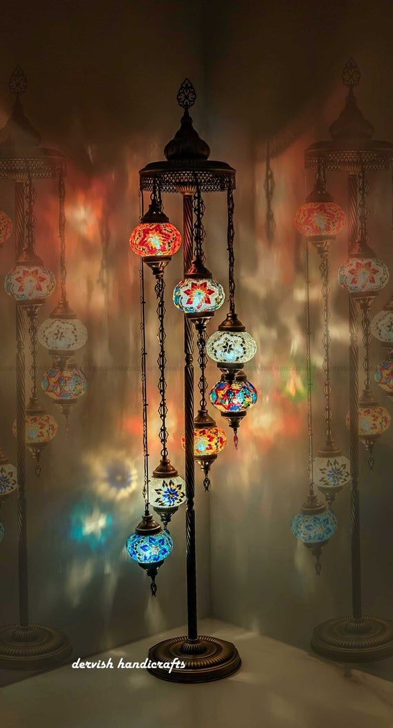 Floor Lamp Customizable Lamp Pick Your Colors Pattern