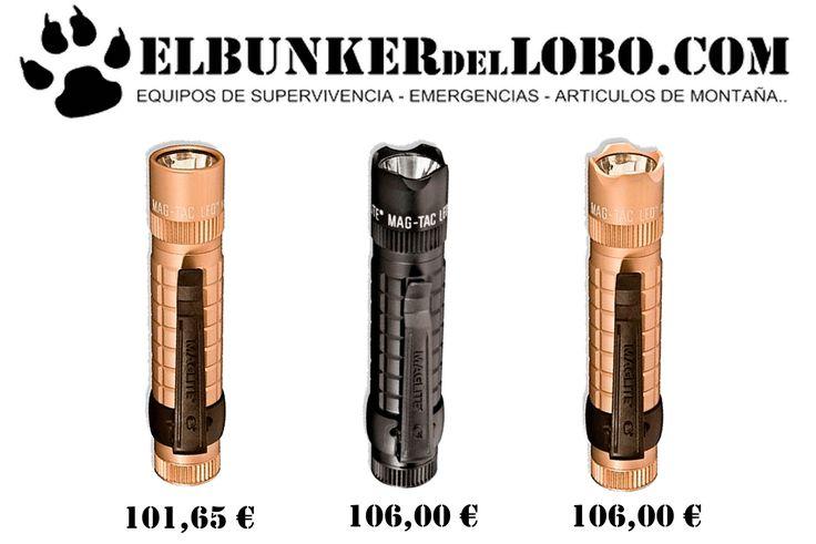 En Elbunkerdellobo.com teneis disponibles Las Linternas Maglite de la serie Mag tac en color Arena y Negro.