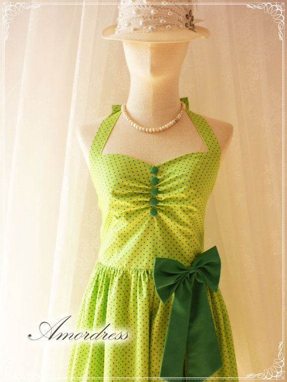 Green Dress Green Party Dress Fancy Circus Dress by Amordress, $55.00