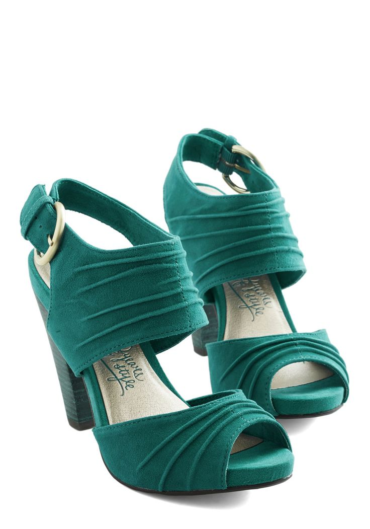 Gypsy Heel. These teal heels by Seychelles add a stylish energy to your free-spirited nature! #green #wedding #modcloth