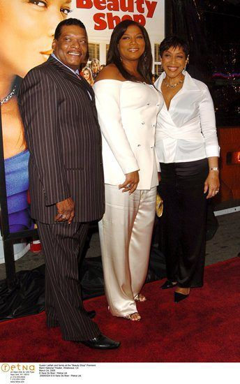 "Queen Latifah and family at the ""Beauty Shop"" Premiere Mann National Theater, Westwood, CA   March 24, 2005"