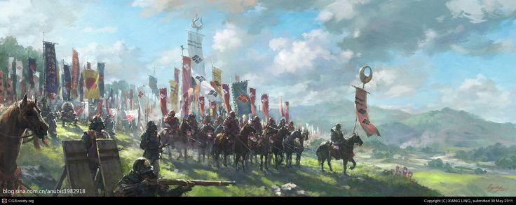 Takeda Shingen in Kawanakajima by XIANG LING   2D   CGSociety