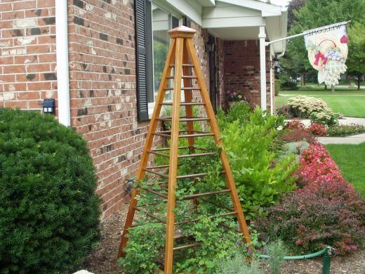 16 best images about plant supports on pinterest gardens for Free standing garden trellis designs