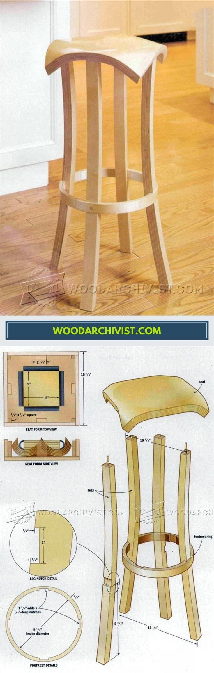 DIY Bar Stools - Furniture Plans and Projects | WoodArchivist.com