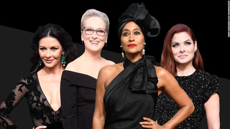 See photos of celebrities at the Golden Globe Awards in California. Many people were wearing black to raise awareness of gender and racial inequality.