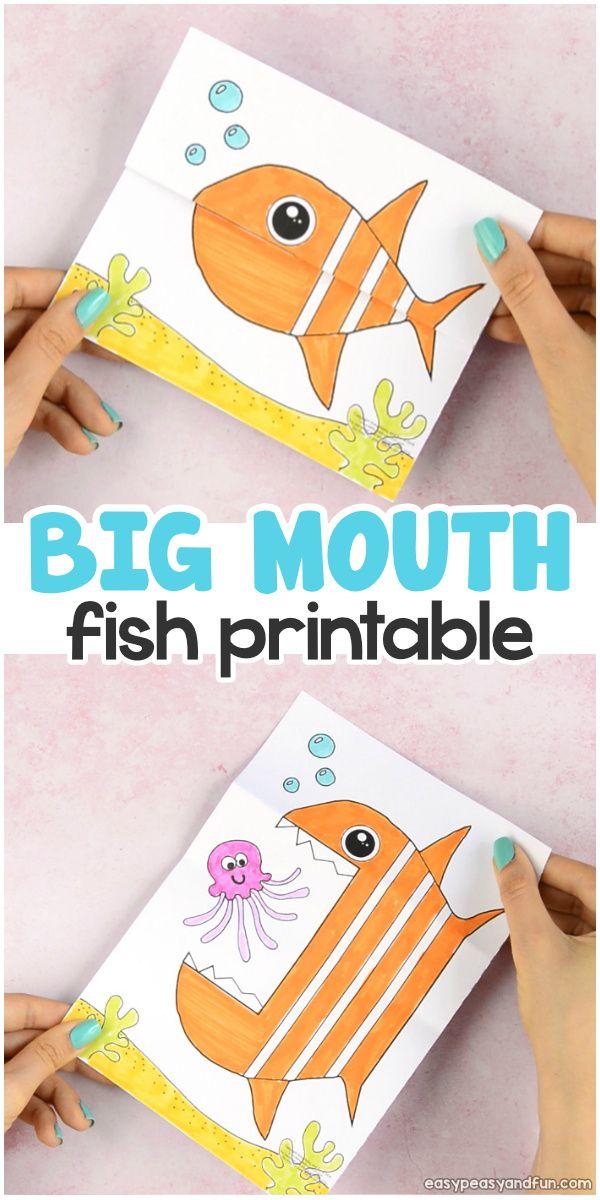 Surprise Big Mouth Fish Printable Summer 18 Fish Crafts