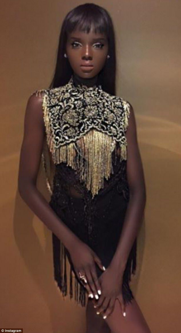 Doll or human? Model Nyadak Thot, also known as Duckie, shared this mesmerizing photo of h...