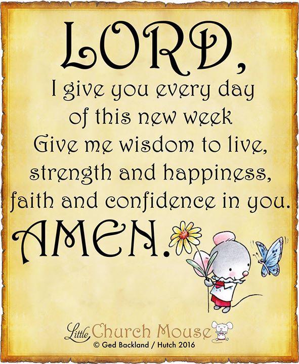 A Monday prayer  #LittleChurchMouse