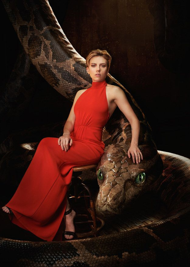 """Scarlett Johansson voices the treacherous, hypnotic python Kaa. 
