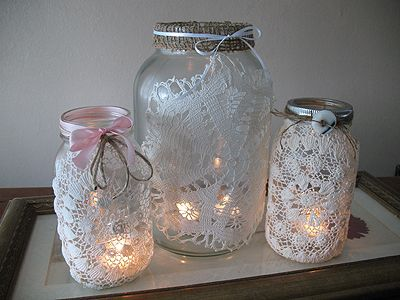 decorating canning jars for christmas | dainty::romantic::rustic}{v-day decor}