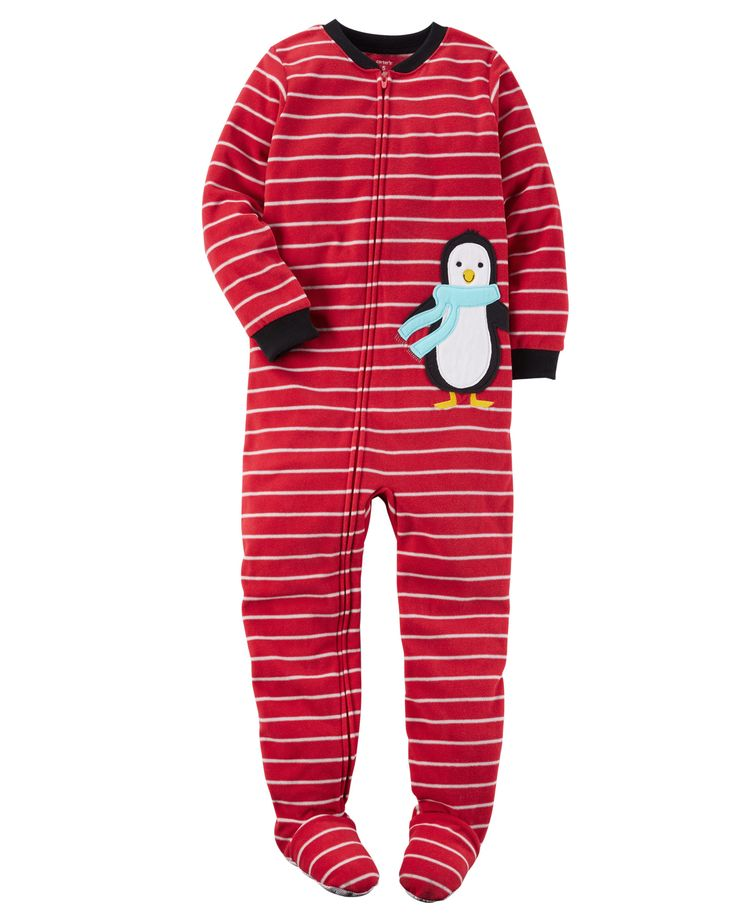 Kid Boy 1-Piece Fleece PJs | Carters.com - size 7