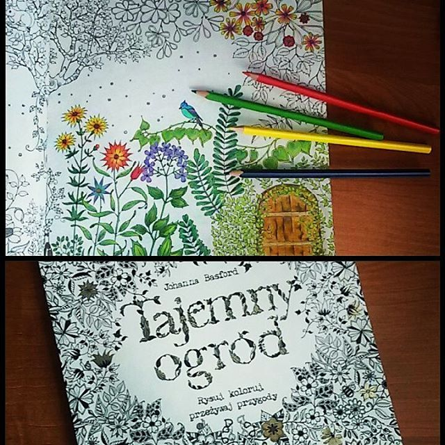 """My new hobby! Moje nowe hobby :) #sztukakolorowania  #tajemnyogród #secretgardenbook #colouringbook  #coloringbook"""