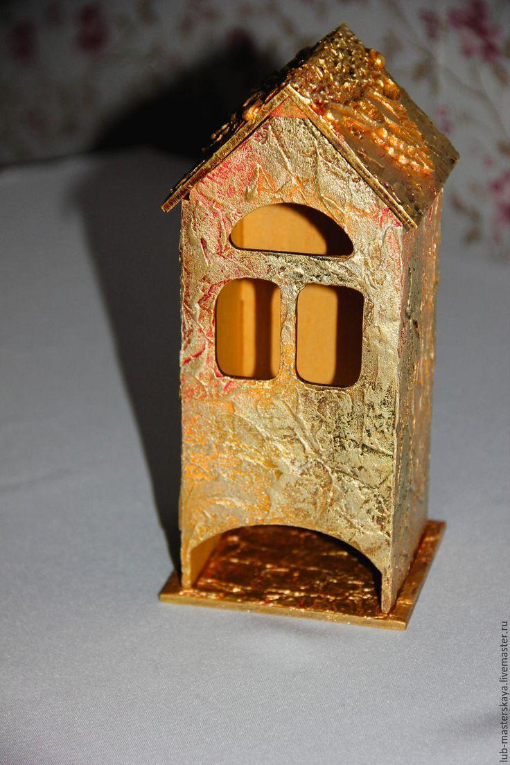 """Купить Чайный домик """"Золотой"""" - золотой, подарок, кухонный декор, необычный подарок, роскошь, блеск"""