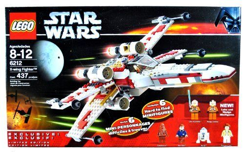 Lego Year 2006 Star Wars Series Vehicle Set #6212 - X-WING FIGHTER with S-Foil Wings, Folding Landing Gear and Cargo Hold Plus 6 Hard to Find Minifigures Luke Skywalker, Wedge Antilles, Chewbacca, Han Solo, R2-D2 and Princess Leia (Total Pieces: 437), http://www.amazon.com/dp/B004WLXRAS/ref=cm_sw_r_pi_awdm_67zAub0DJT9WR @ashleighmrivard