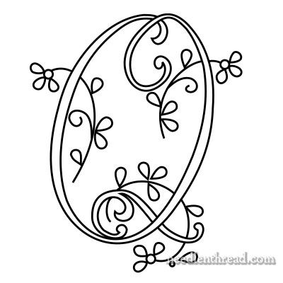 Monogram R for Hand Embroidery from Mary Corbet