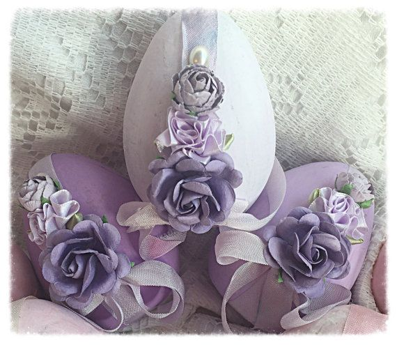 Cottage Chic 3 Paper Mâché Easter Lavender 4 by RoseChicFriends