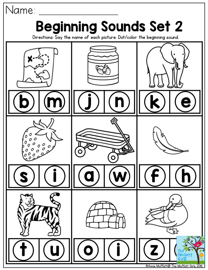 Beginning Sounds- Say the name of each picture and dot the beginning sound.  Reading begins with mastering the phonetic sounds of the letters of the alphabet, and these activities are great for helping preschool students do just that. Plus, check out all of the other fun activities found in the Summer Review NO PREP Packets! Just print and teach!