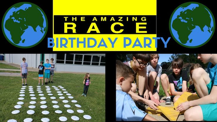DIY AMAZING RACE BIRTHDAY PARTY with footage from 11 challenges.  perfect for tweens and teens.  www.kerricreatesblog.wordpress.com