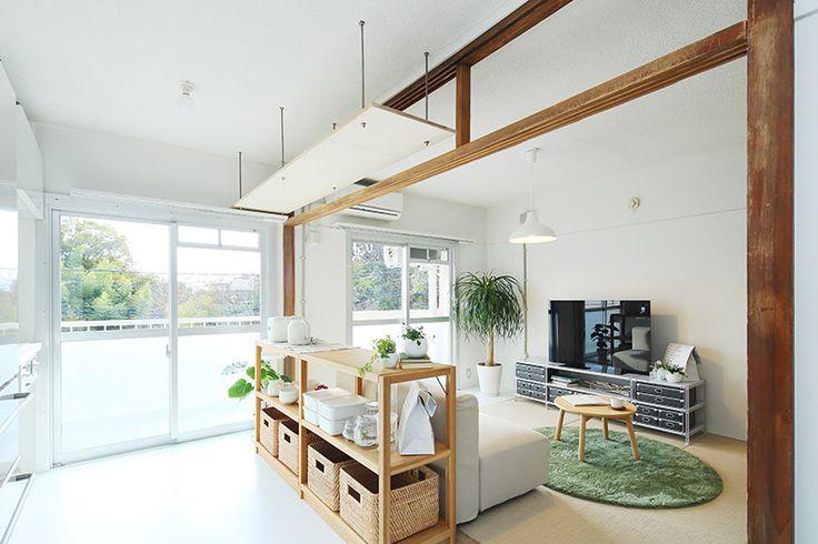 Plan35<風通しの良い一室空間>南北に風が通り抜けるLDK空間。 | MUJI×UR 団地リノベーションプロジェクト | 無印良品の家