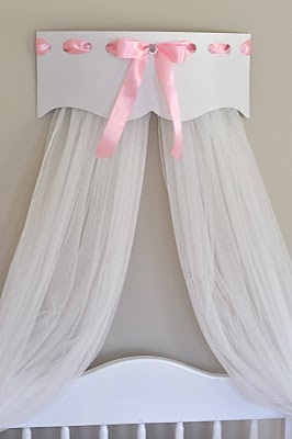 Add a bed crown to baby's room or a room fit for a princess.