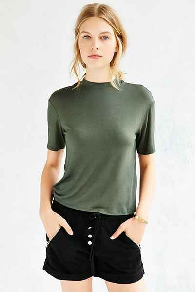 Silence + Noise Jackie Mock-Neck Tee - Urban Outfitters