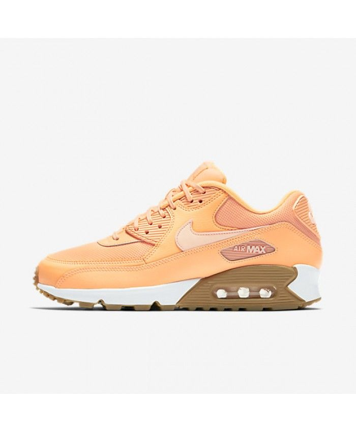 sports shoes 2fffa 61f61 Air Max 90 Femme Crépuscule Brillant Gomme Marron Clair Teinte Coucher De  Soleil