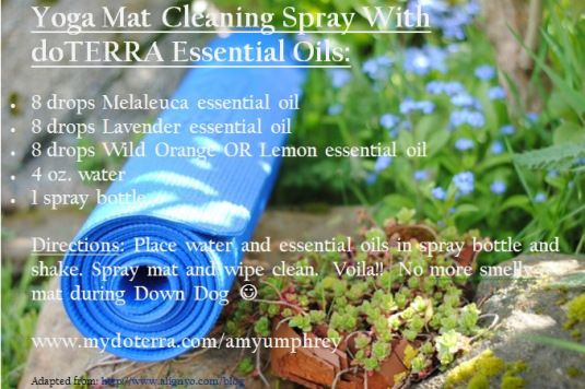yoga mat cleaner with essential oils from doterra -- shop www.mydoterra.com/jenniferhayes2