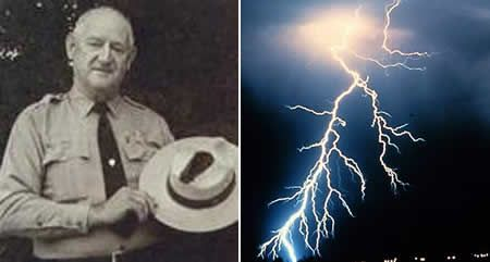 June 25  - American Roy Sullivan is struck by lightning for the seventh time.