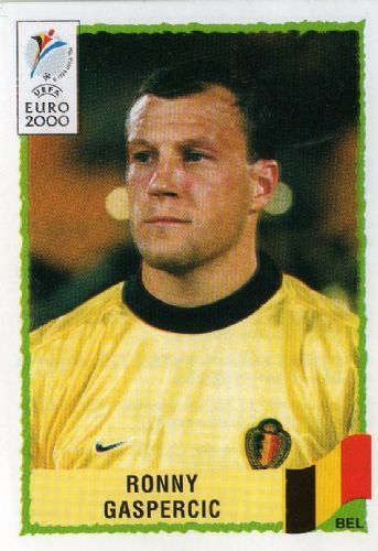 Rene Gaspercic of Belgium. Euro 2000 card.