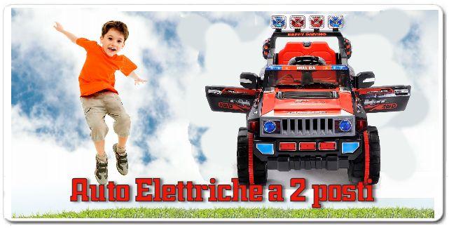 Jeep elettrica per banbini 2 posti stile jeep 4x4 cabrio -porte apribili dispone di un motore a 12V, una marcia avanti e retromarcia leva del cambio realistica!  Adatto per due bambini piccoli o uno di età più grande, verificare le dimensioni del sedile. Il sedile è regolabile di circa 10 centimetri. Questa Jeep è dotata di un potente motore a 12V  e una batteria a 12V http://www.brucaliffogiochi.it/giocattoli-in-offerta/140/shop-browse