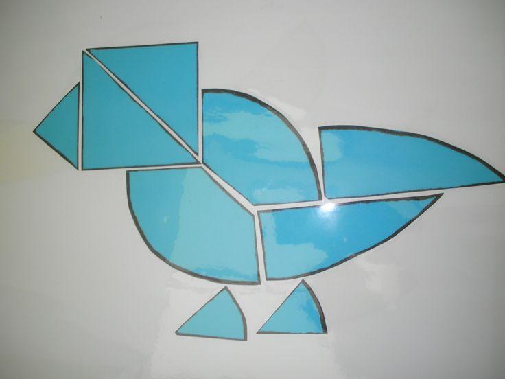 Ei-tangram papegaai