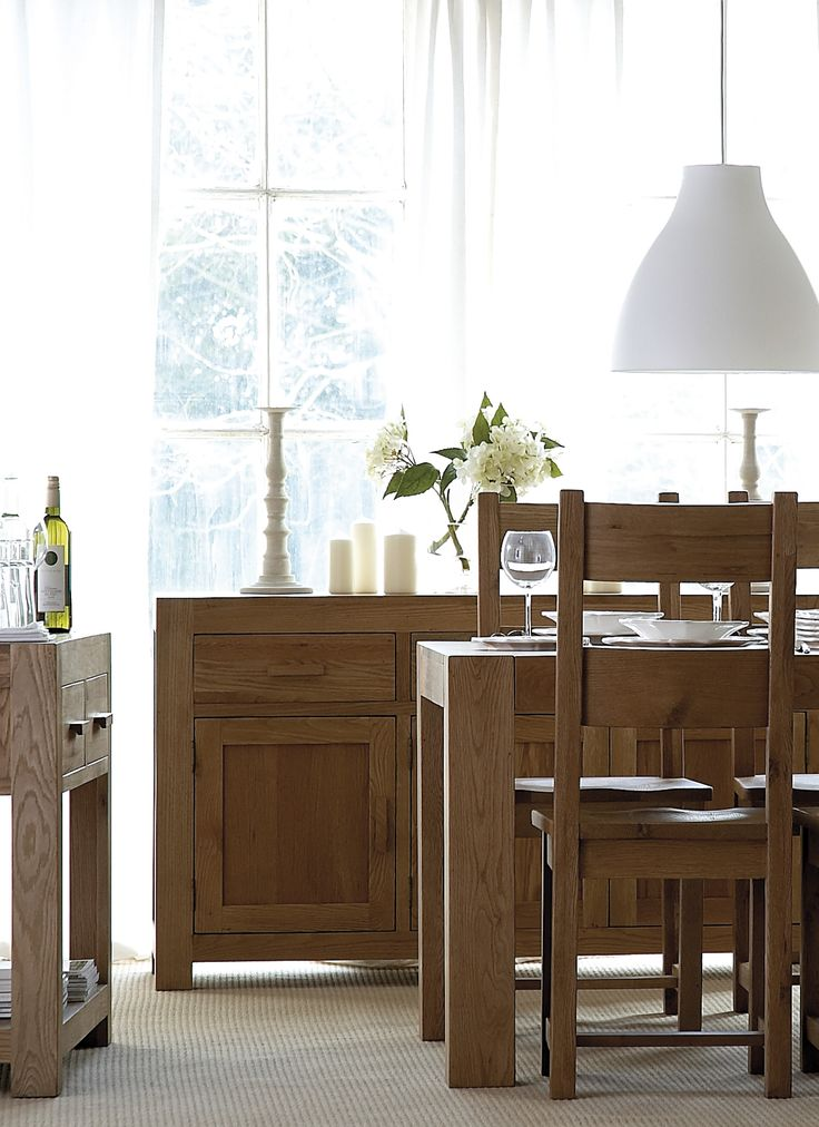 Chunky Oak Dining Furniture Range