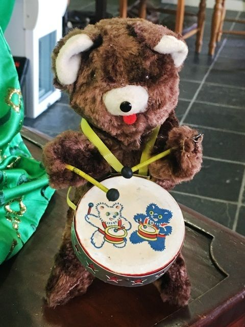 Buy Mechical Wind up Drummer Teddy Bear in box - Working for R500.00