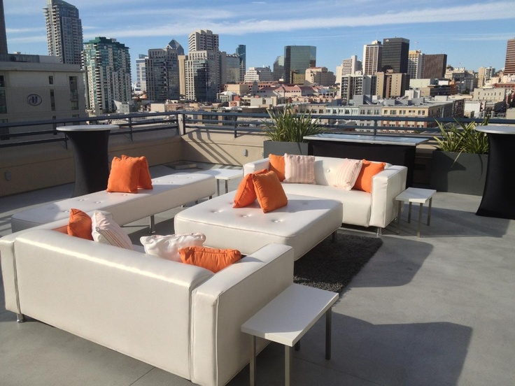 Attractive White Lounge Furniture At The Hard Rock Hotel Rooftop | Past Event Photos |  Pinterest | White Lounge And Lounge Furniture