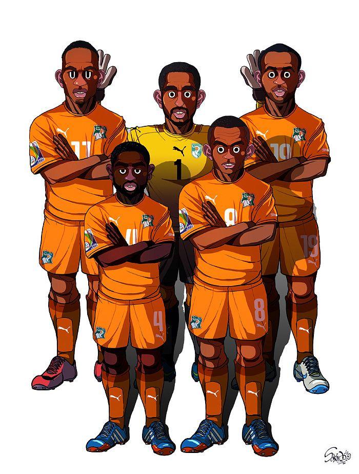 [2014 World cup Edition] C team : Ivory Coast by sakiroo.deviantart.com on @deviantART