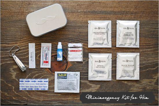 man-mergency kit! ha LOVE it!Grooms Groomsmen, Manmerg Kits, Groomsmen Gift, Decor Ideas, Man Merge Kits, We Grooms, Groomsmen Kit, Groomsman Gifts Diy, Grooms And Groomsmen