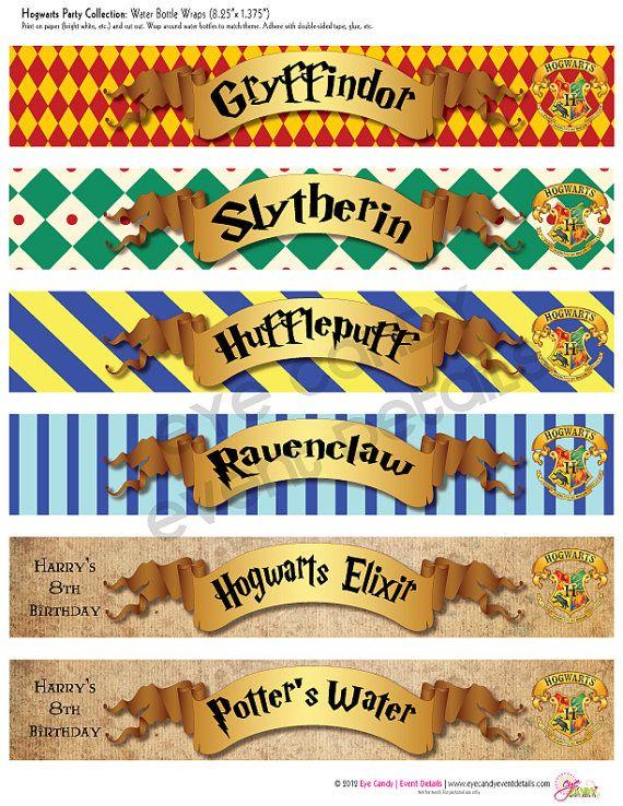 Harry Potter inspirado - etiquetas de botellas de agua personalizadas de…