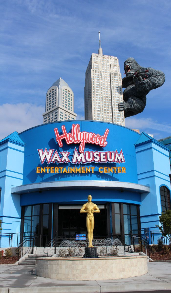 Hollywood Wax Museum Entertainment Center, in Myrtle Beach, South Carolina - 3 fun attractions in one place!  Open 365 days a year!  Click on the pin for more info and other Myrtle Beach area amusements and attractions!