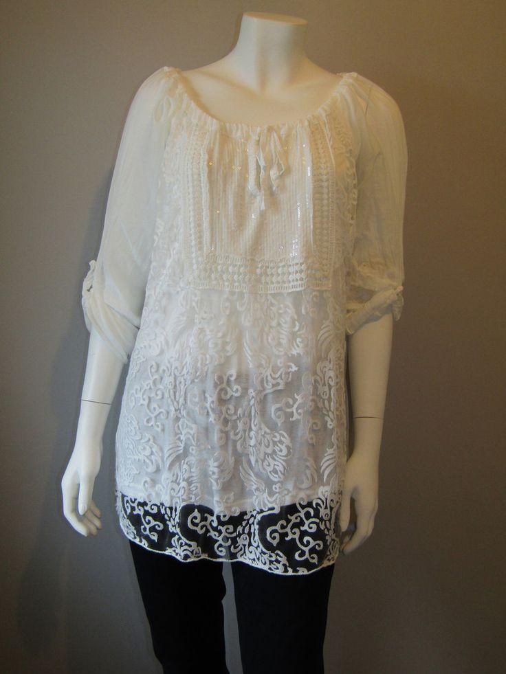 Lagenlook tunic 18379-white