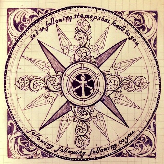 Bildresultat For Old Map Compass Rose